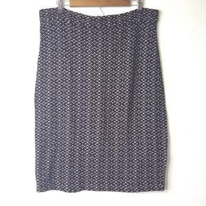 Maeve Black Skirt Zip Detail Back XL